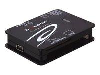 DeLOCK USB 2.0 CardReader All in 1 - Kartenleser - All-in-one (Multi-Format) - USB 2.0