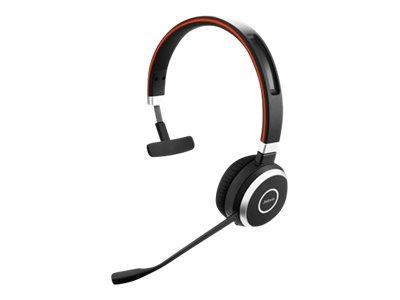 Jabra Evolve 65 MS mono - Headset - On-Ear - konvertierbar - Bluetooth - kabellos