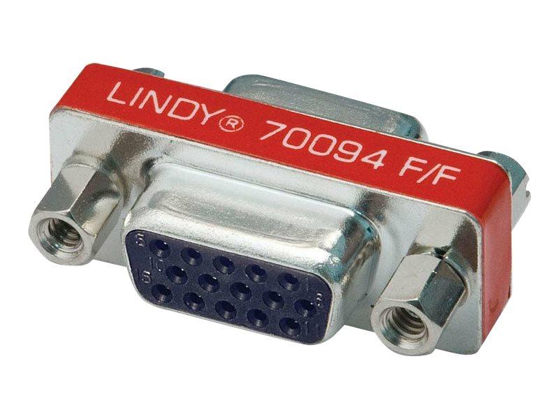 Lindy Mini Gender Changer - Invertieradapter - HD-15 (VGA) (W) bis HD-15 (VGA) (W)