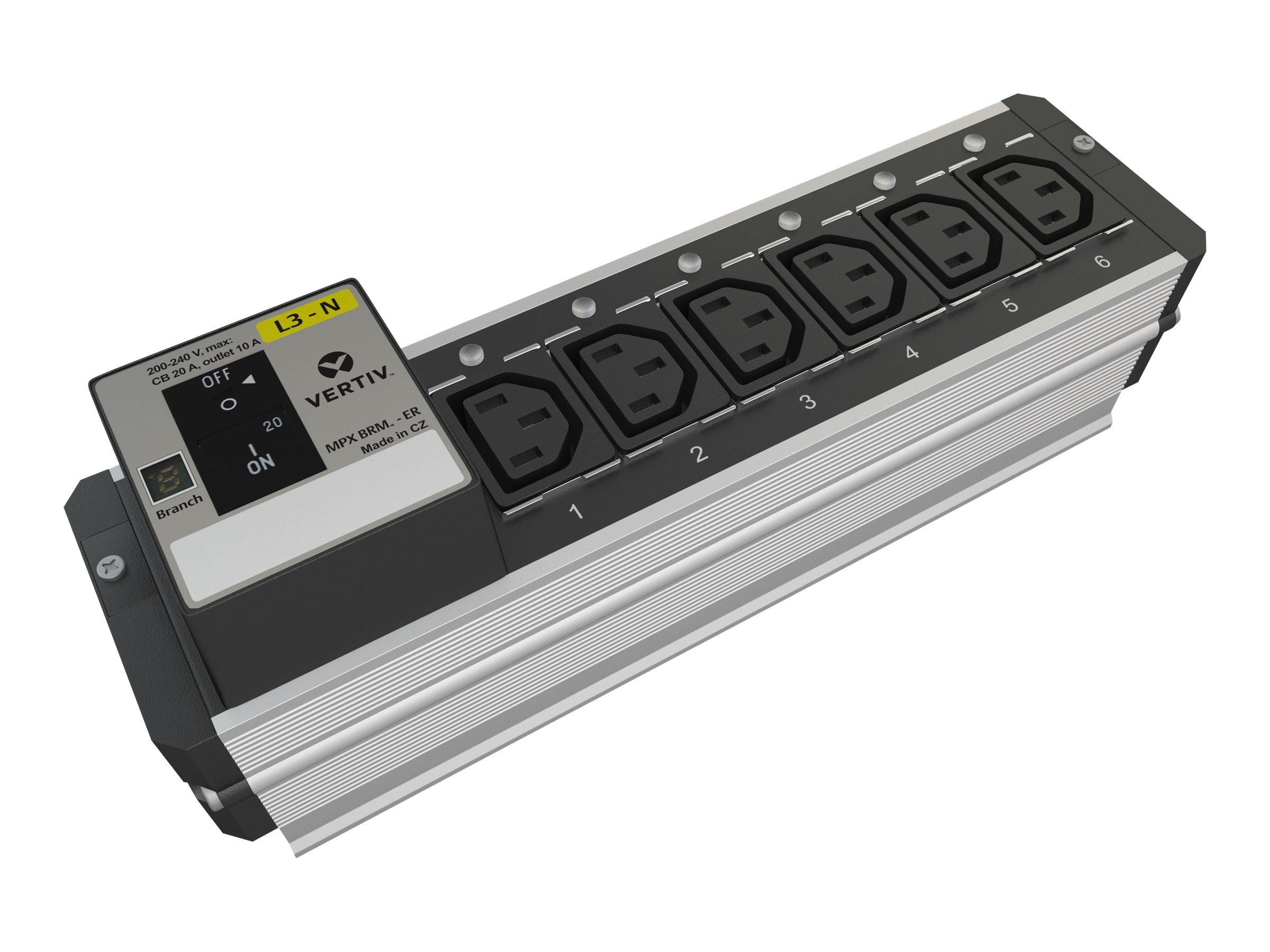 Liebert MPX BRM Receptacle Management - Erweiterungsmodul für Stromverteilungseinheit (Rack - einbaufähig) - Ausgangsanschlüsse: