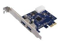 M-CAB PCI Express USB 3.0 Karte - USB-Adapter - PCIe 2.0 Low-Profile - USB 3.0 x 2