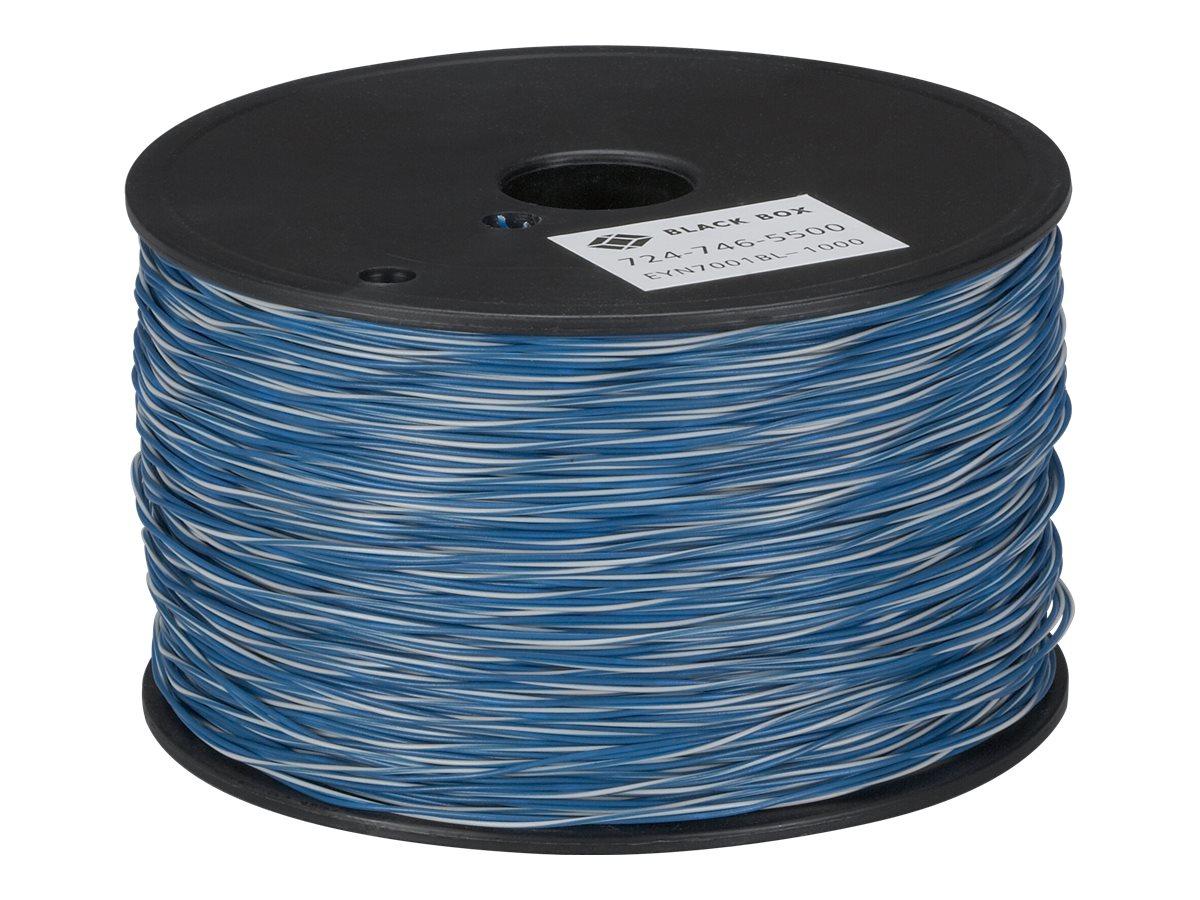 Black Box CAT5 Cross-Connect Wire - Bulkkabel - 304.8 m - CAT 5 - robust - weiss, Blau