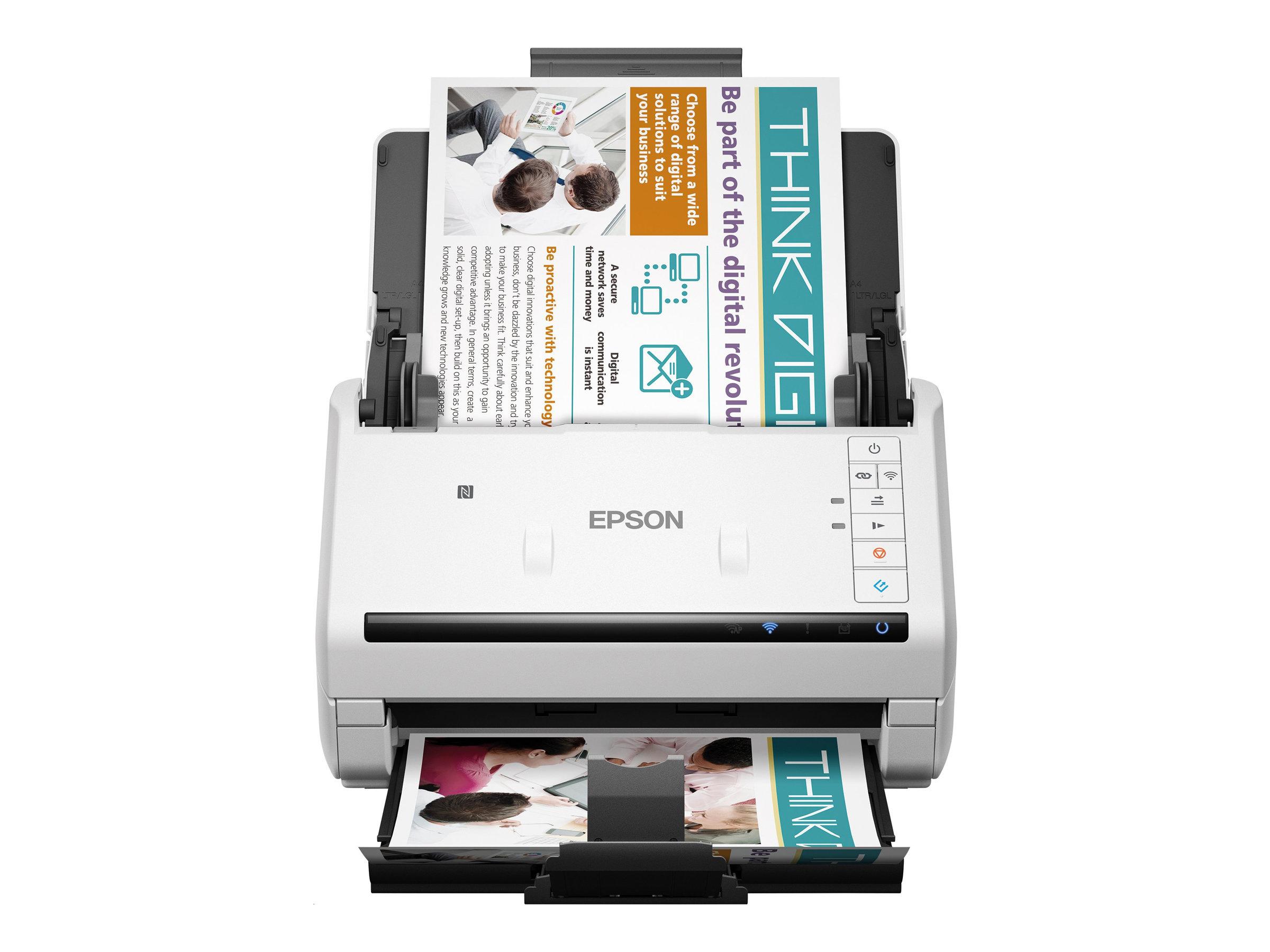 Epson WorkForce DS-570W - Dokumentenscanner - Duplex - A4/Legal - 600 dpi x 600 dpi - bis zu 35 Seiten/Min. (einfarbig) / bis zu