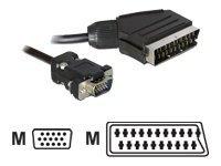 DeLOCK - Videokabel - VGA - HD-15 (VGA) (M) bis SCART (M) - 2 m