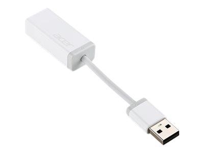 Acer USB(A) to RJ45 converter - Netzwerkadapter - USB - 10Mb LAN - weiss