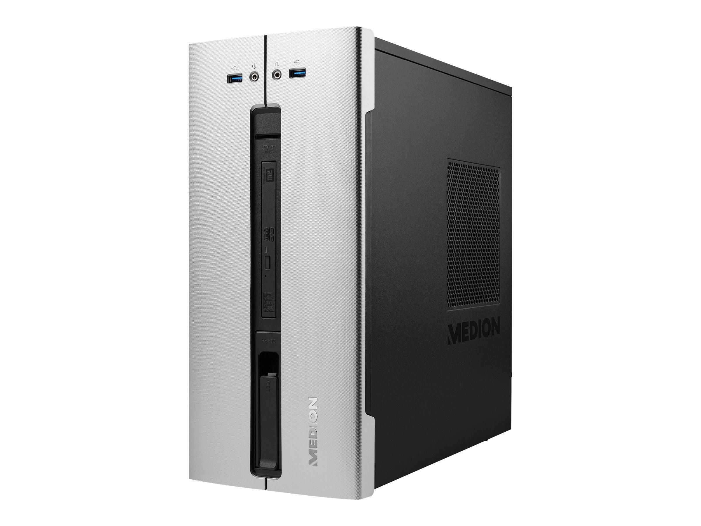 Medion Akoya P40008 - Tower - 1 x Core i3 8100 / 3.6 GHz - RAM 8 GB - HDD 1 TB - DVD-Writer