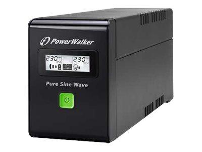 PowerWalker VI 800 SW - USV - Wechselstrom 220/230/240 V - 480 Watt - 800 VA 9 Ah - USB
