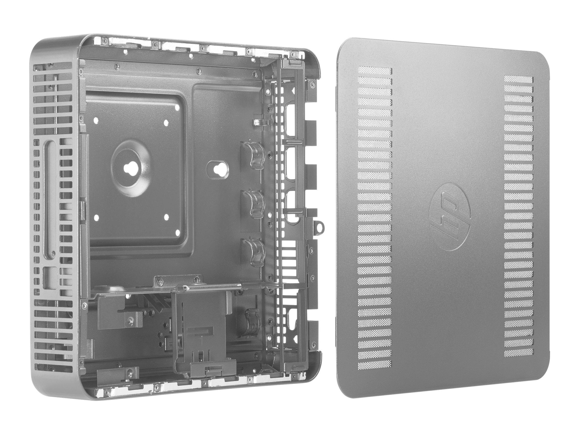 HP Desktop Mini LockBox - PC-Gehäusesystem - geeignet für Wandmontage, unter Tisch montierbar - tiefschwarz - für EliteDesk 705