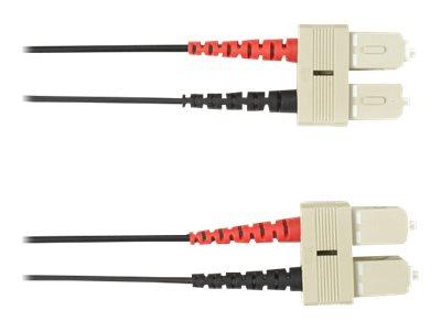 Black Box - Patch-Kabel - SC multi-mode (M) bis SC multi-mode (M) - 10 m - Glasfaser - Schwarz