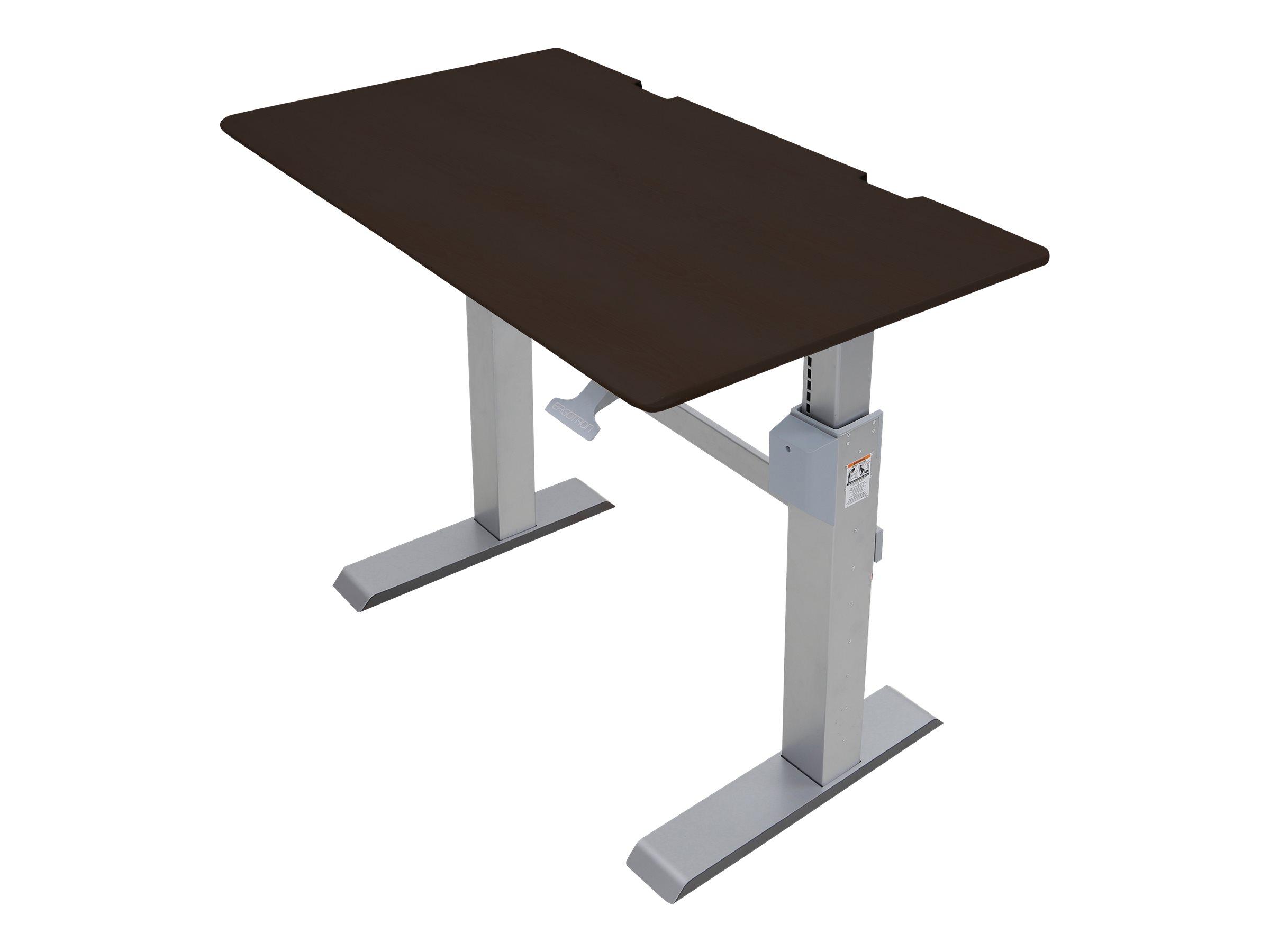 Ergotron WorkFit-DL - Sitz-/ Stehtisch - mobil - Büro - rechteckig - Wenge