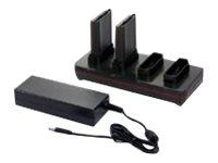 Honeywell Quad Battery Charger - Standard - Batterieladegerät - Ausgangsanschlüsse: 4 - für P/N: CX80-BAT-EXT-WRLS1