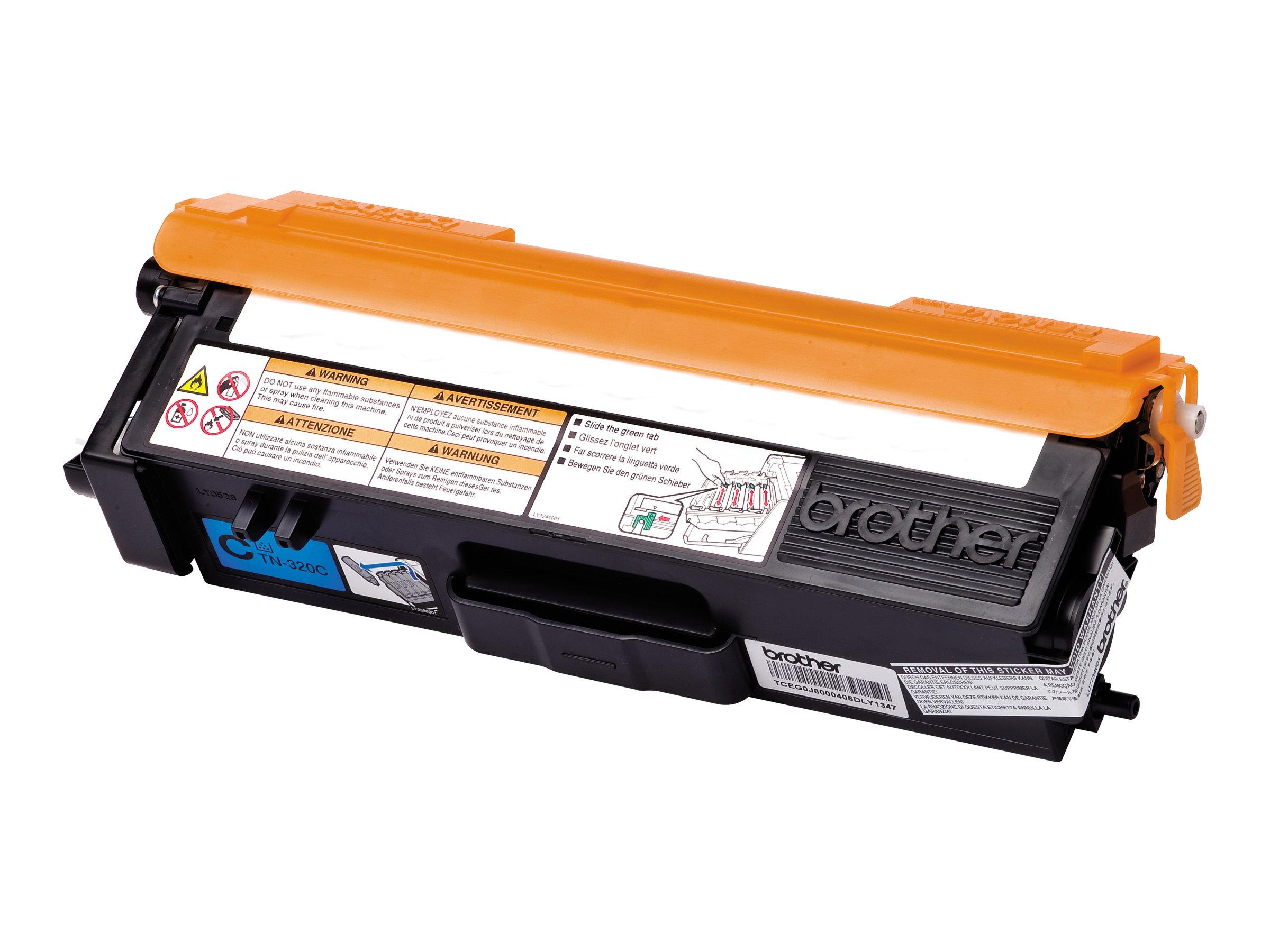 Brother TN320C - Cyan - Original - Tonerpatrone - für Brother DCP-9055, DCP-9270, HL-4140, HL-4150, HL-4570, MFC-9460, MFC-9465,