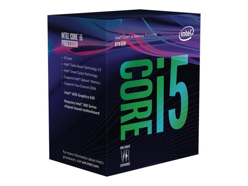 Intel Core i5 8600 - 3.1 GHz - 6 Kerne - 6 Threads - 9 MB Cache-Speicher - LGA1151 Socket