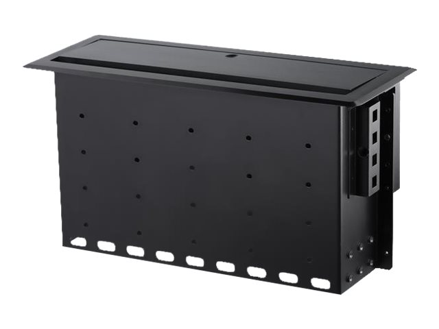 StarTech.com Dual-Module Conference Table Connectivity Box-Customizable - Befestigungsplatte - Schwarz
