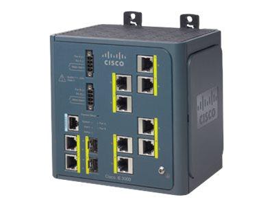 Cisco Industrial Ethernet 3000 Series - Switch - L3 - managed - 8 x 10/100 + 2 x Kombi-Gigabit-SFP - an DIN-Schiene montierbar