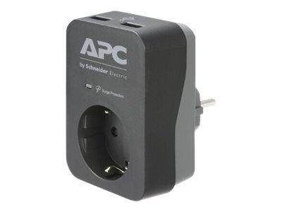 APC Essential Surgearrest PME1WU2B-GR - Überspannungsschutz - Wechselstrom 220/230/240 V - 4000 Watt - Ausgangsanschlüsse: 1 - D