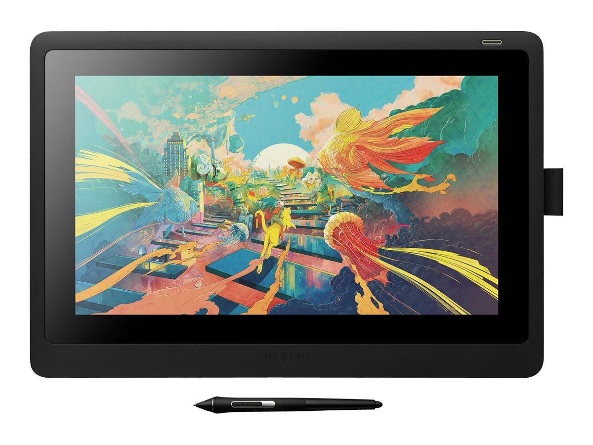 Wacom Cintiq 16 - Digitalisierer mit LCD Anzeige - 34.5 x 19.4 cm - elektromagnetisch - kabelgebunden - HDMI, USB 2.0