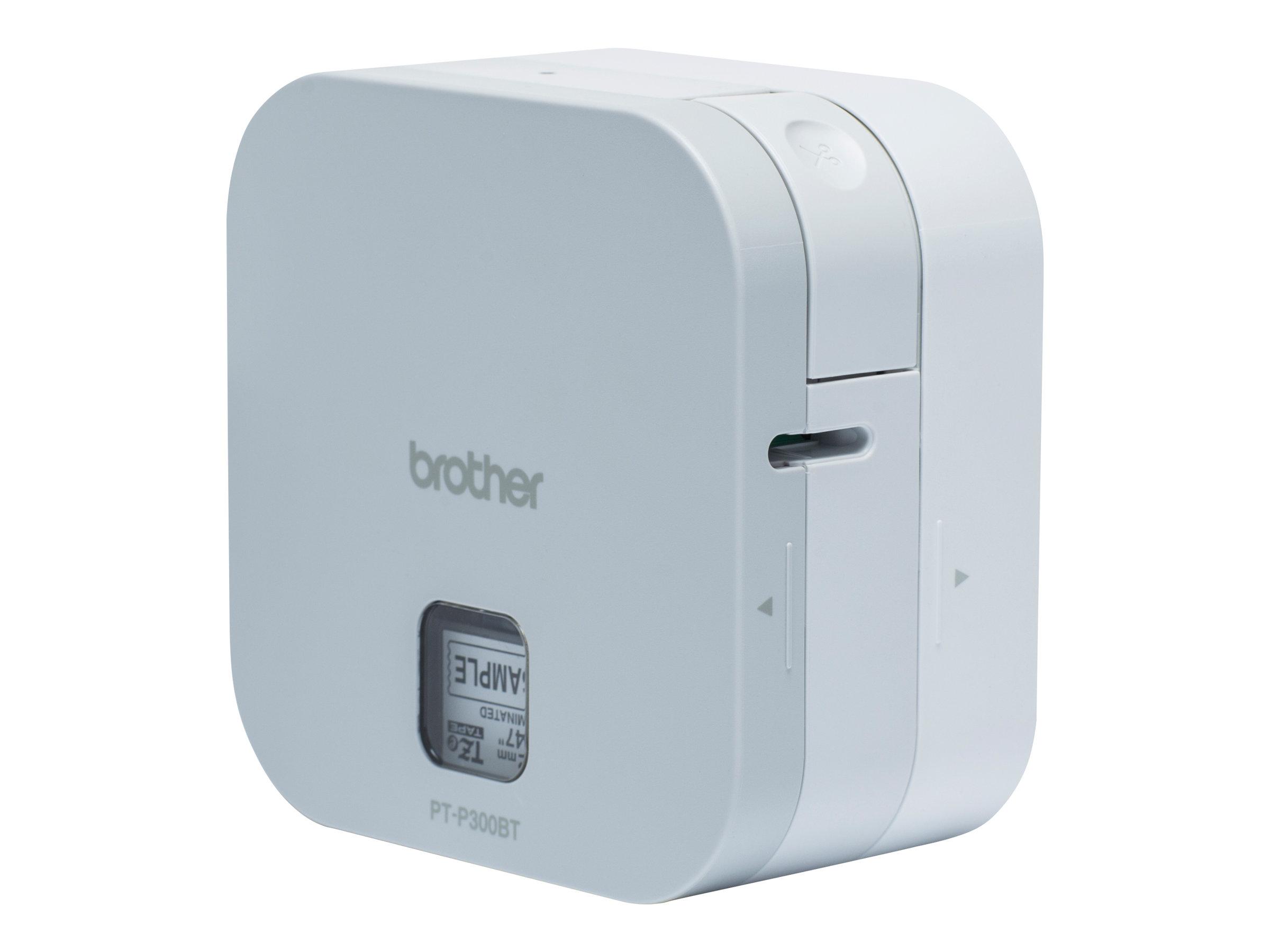 Brother P-Touch PT-P300BT - Etikettendrucker - Thermal Transfer - Rolle (1,2 cm) - 180 dpi - bis zu 20 mm/Sek.