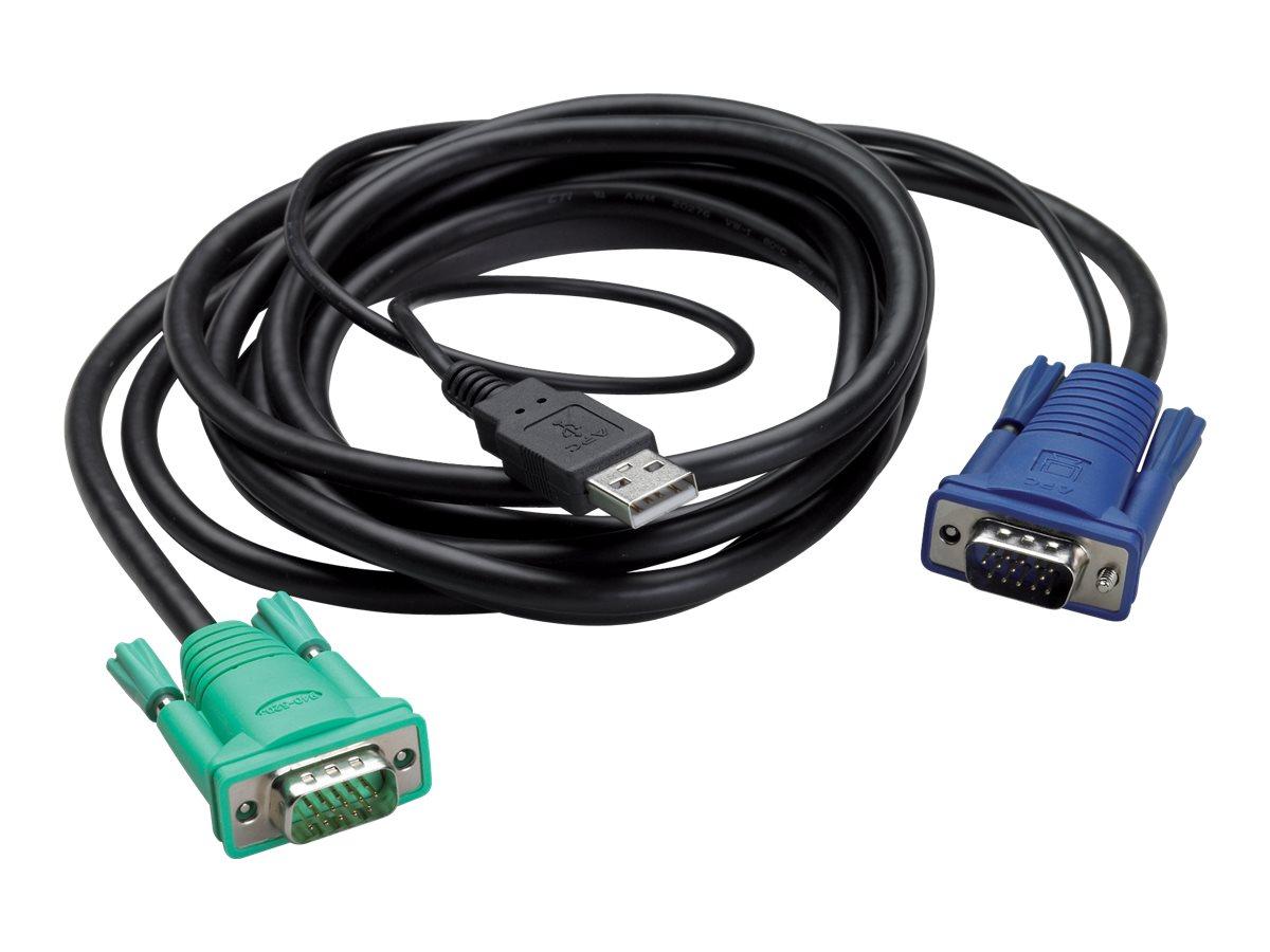 APC - Tastatur- / Video- / Maus- (KVM-) Kabel - USB, HD-15 (VGA) (M) bis HD-15 (VGA) (M) - 3.66 m - Schwarz - für P/N: AP5201, A