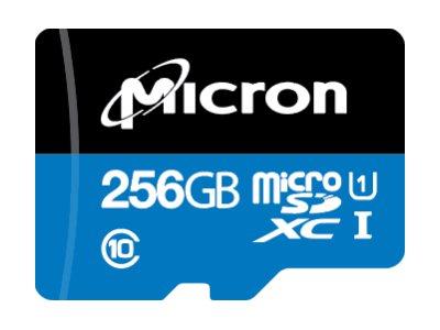 Micron - Flash-Speicherkarte - 256 GB - A1 / UHS-I U1 / Class10 - microSDXC UHS-I