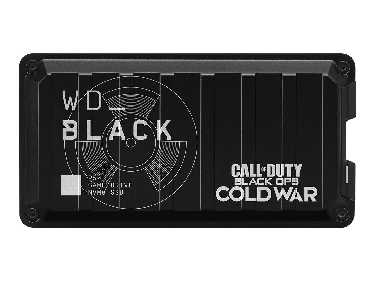 WD_Black P50 Game Drive SSD WDBA3S0040BBK - Solid-State-Disk - 4 TB - extern (tragbar) - USB 3.2 Gen 2x2 (USB-C Steckverbinder)