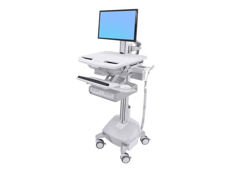 Ergotron Cart with LCD Pivot, LiFe Powered, 2 Drawers - Wagen für LCD-Display/Tastatur/Maus/CPU/Notebook/Barcodescanner (offene