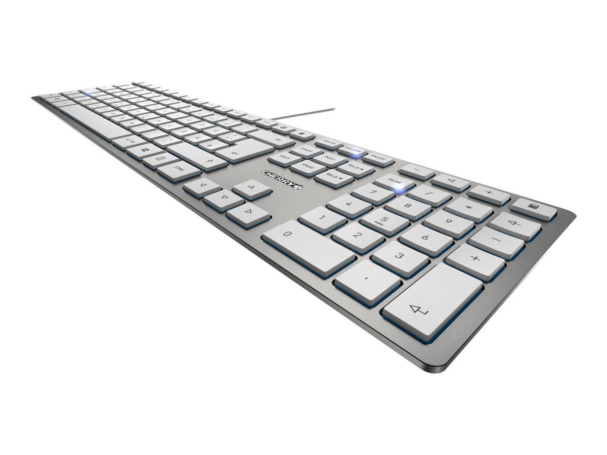 CHERRY KC 6000 SLIM - Tastatur - USB - Deutsch - Tastenschalter: CHERRY SX - Silber