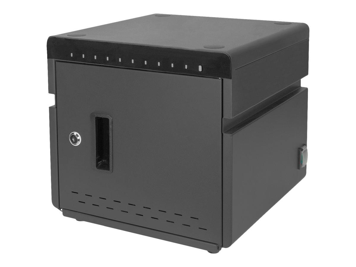 DIGITUS - Schrankeinheit - für 10 Notebooks/Tablets - verriegelbar - kaltgewalzter Stahl, Acrylnitril-Butadien-Styrol (ABS) - Sc