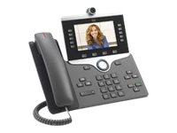 Cisco IP Phone 8865NR - IP-Videotelefon - Digitalkamera - SIP, SDP - 5 Leitungen - holzkohlefarben