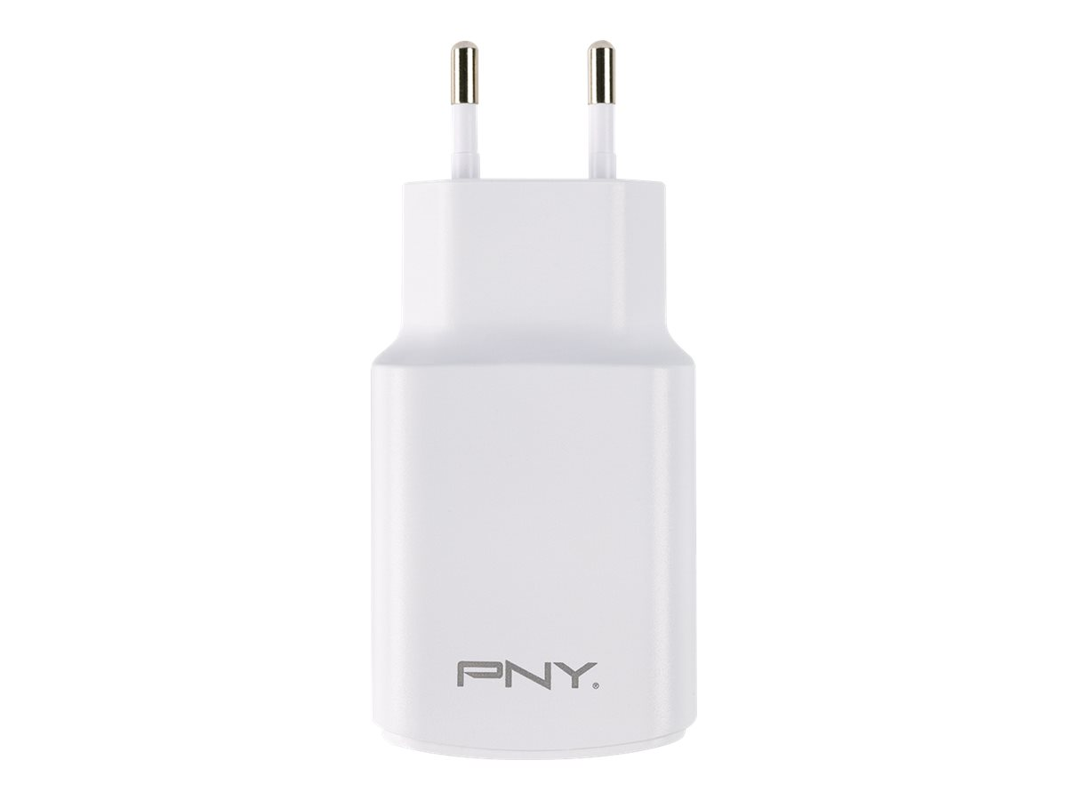 PNY Fast Dual Charger - Netzteil - 17 Watt - 3.4 A - 2 Ausgabeanschlussstellen (USB) - Europa (ausser Grossbritannien)