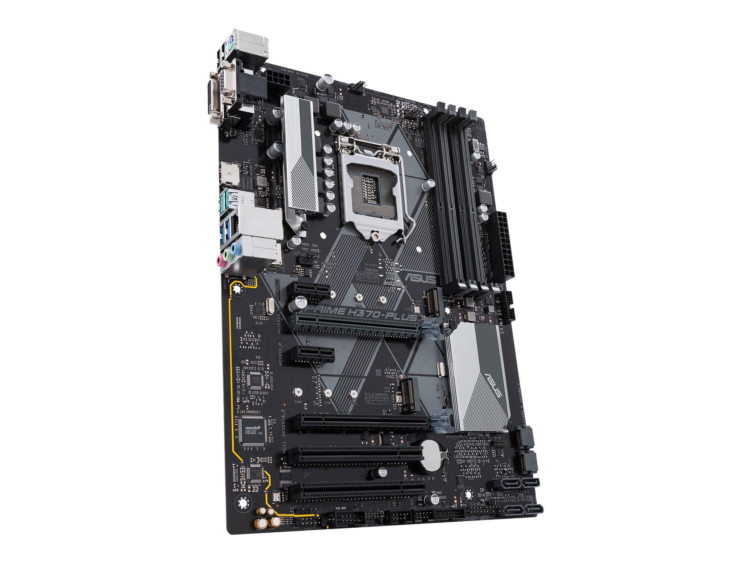 ASUS PRIME H370-PLUS - Motherboard - ATX - LGA1151 Socket - H370 - USB 3.1 Gen 1, USB 3.1 Gen 2