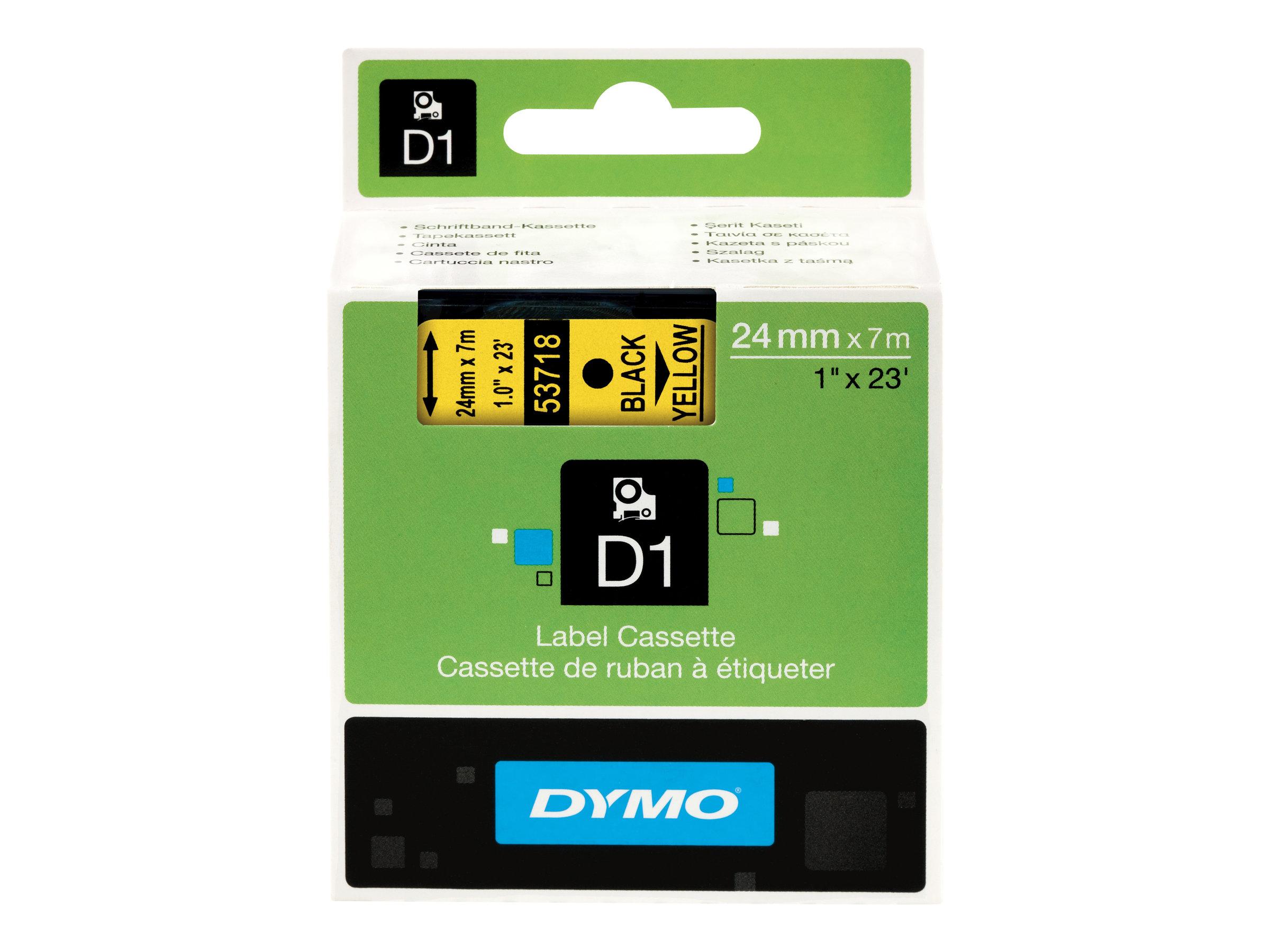 DYMO D1 - Selbstklebend - Schwarz auf Gelb - Rolle (2,4 cm x 7 m) 1 Rolle(n) Etikettenband - für LabelMANAGER 500TS, PnP