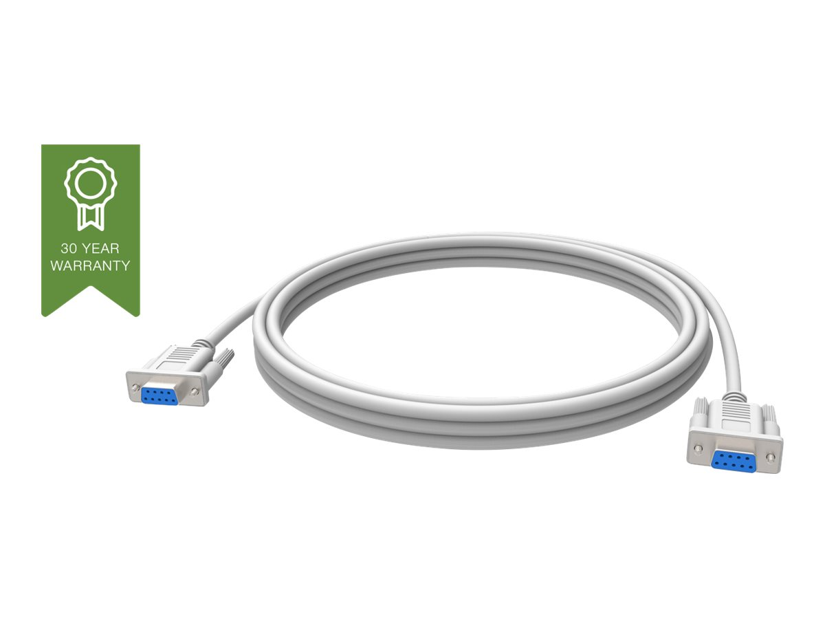 Vision Techconnect - Kabel seriell - DB-9 (W) bis DB-9 (W) - 10 m - weiss