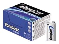 Energizer Ultimate Lithium - Batterie 10 x 9V - Li