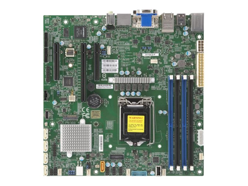 SUPERMICRO X11SCZ-F - Motherboard - micro ATX - LGA1151 Socket - C246 - USB 3.0, USB 3.1, USB-C