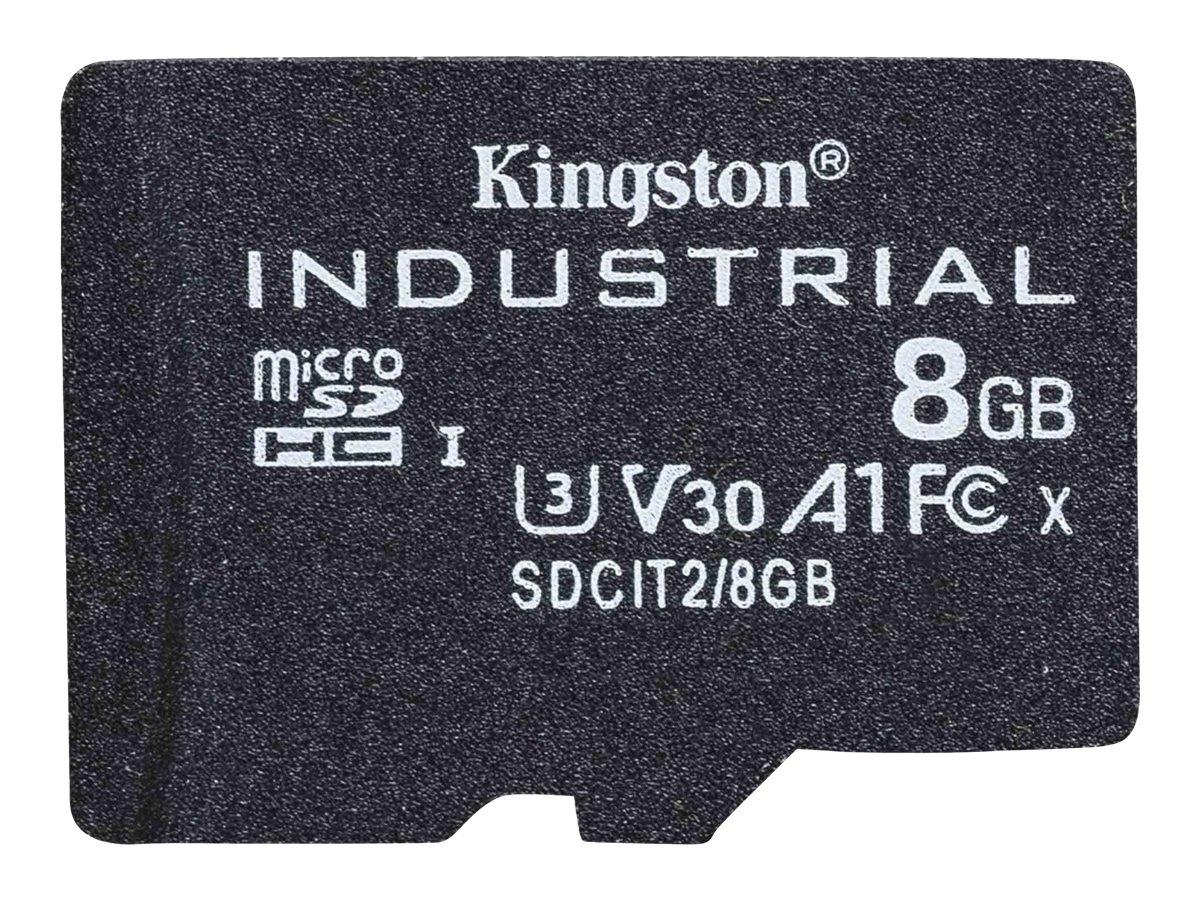 Kingston Industrial - Flash-Speicherkarte - 8 GB - A1 / Video Class V30 / UHS-I U3 / Class10 - microSDHC UHS-I