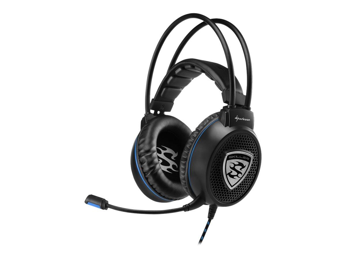Sharkoon SKILLER SGH1 - Headset - ohrumschliessend - kabelgebunden - Schwarz, Blau