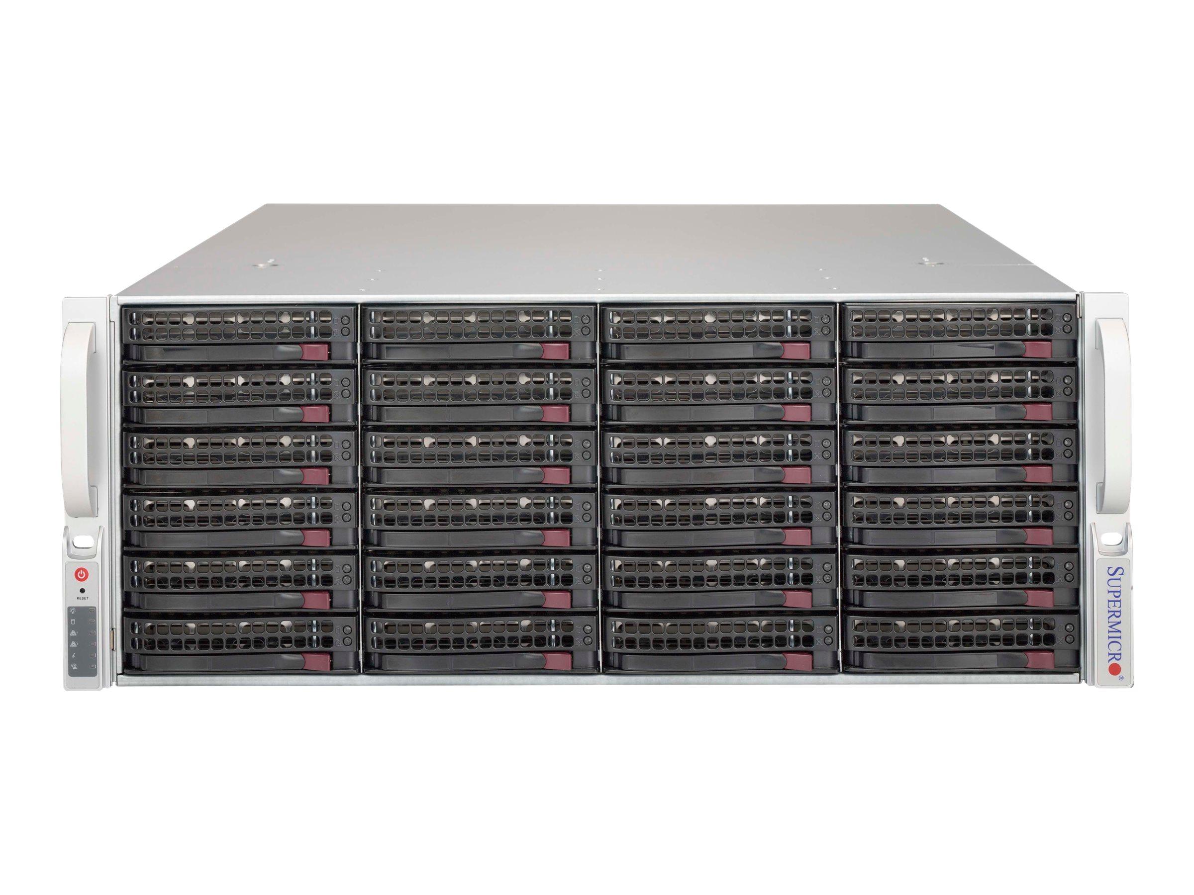 Supermicro SC846 BE1C-R1K03JBOD - Rack-Montage - 4U - SATA/SAS - Hot-Swap 1000 Watt - Schwarz
