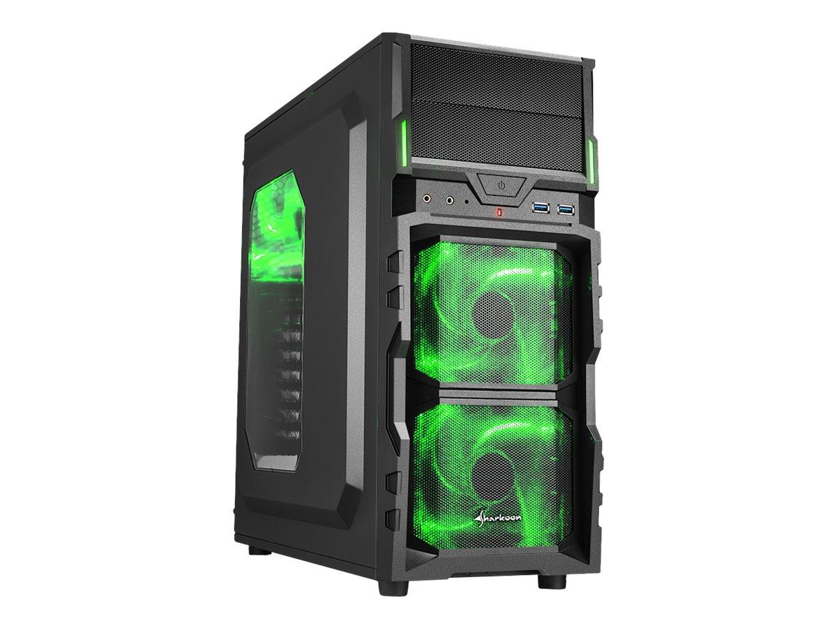 Sharkoon VG5-W - Tower - ATX - ohne Netzteil - grün - USB/Audio