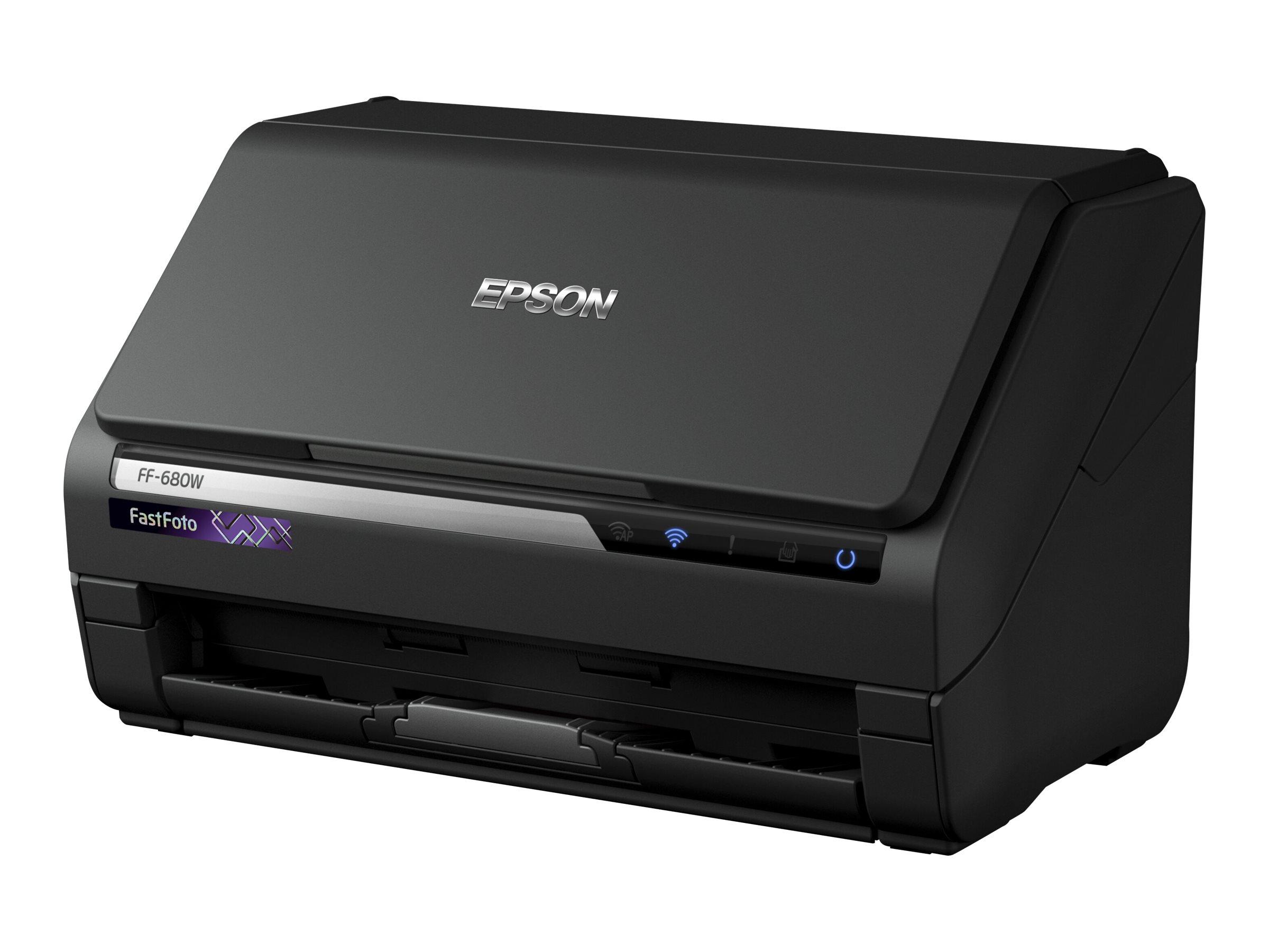 Epson FastFoto FF-680W - Dokumentenscanner - Duplex - A4 - 600 dpi x 600 dpi - bis zu 45 Seiten/Min. (einfarbig) / bis zu 45 Sei
