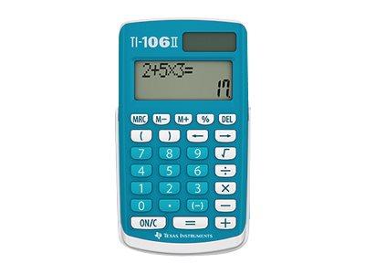 Texas Instruments TI-106 II - Taschenrechner - 10 Stellen - Solarpanel, Batterie