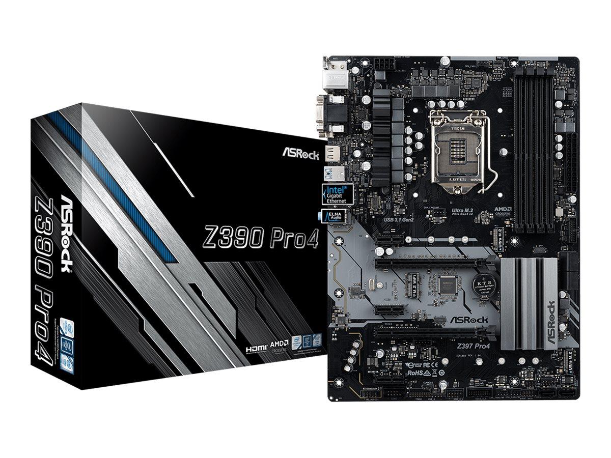 ASRock Z390 Pro4 - Motherboard - ATX - LGA1151 Socket - Z390 - Gigabit LAN