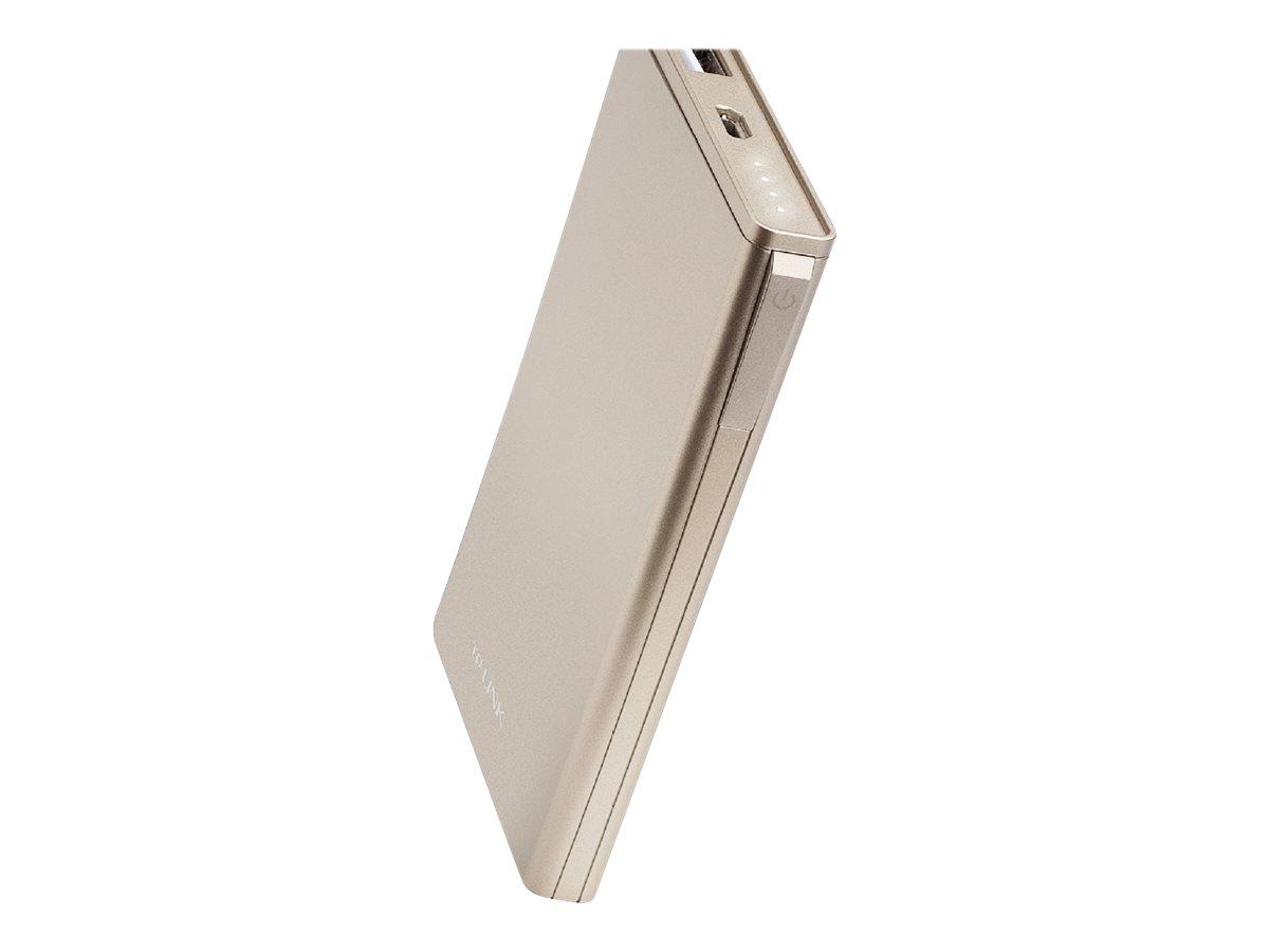 TP-Link Elite Series TL-PBB6000 - Powerbank - 6000 mAh - 2.4 A (USB) - auf Kabel: Micro-USB - Gold