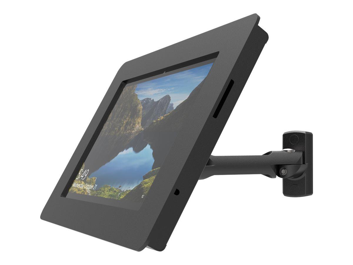 Compulocks Rokku Swing Arm - Gehäuse für Tablett - verriegelbar - hochwertiges Aluminium - Schwarz - Wandmontage, Thekenbereich