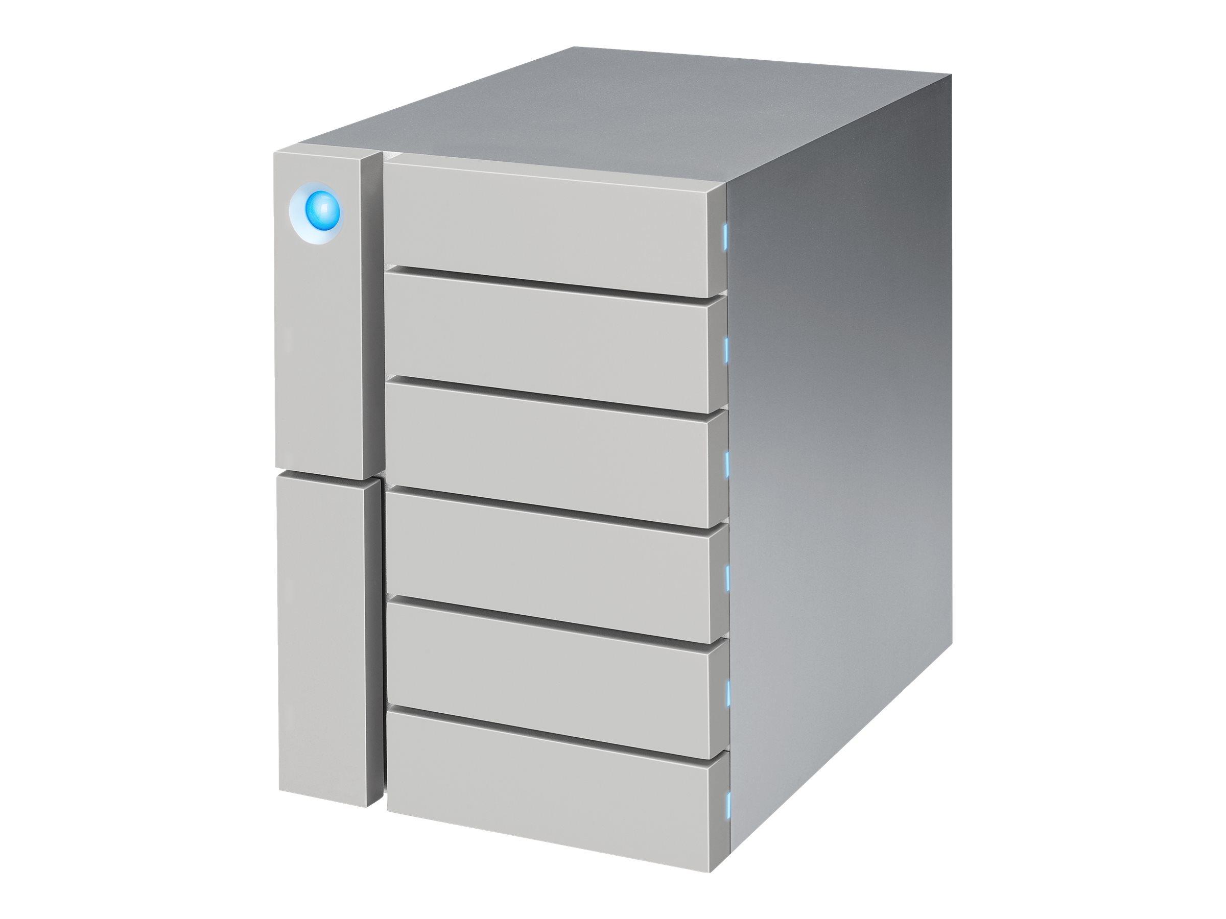 LaCie 6big Thunderbolt 3 STFK108000400 - Festplatten-Array - 108 TB - 6 Schächte (SATA) - HDD 18 TB x 6 - USB 3.1, Thunderbolt 3