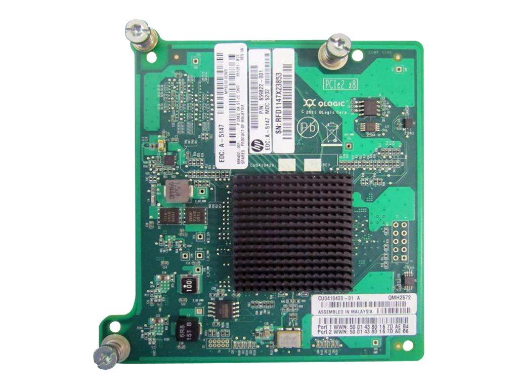 HPE QMH2572 - Hostbus-Adapter - PCIe 2.0 x4 / PCIe x8 - 8Gb Fibre Channel x 2 - für ProLiant BL460c Gen8, BL465c Gen8