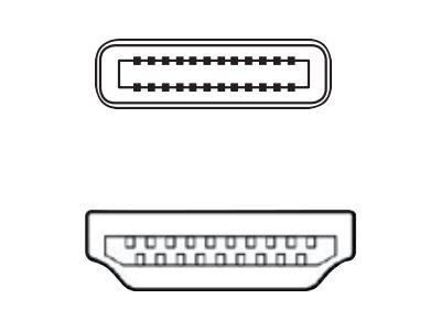 Fujitsu - Videoschnittstellen-Converter - HDMI / USB - USB-C (M) bis HDMI (M) - 18.6 cm - Schwarz (Packung mit 20)