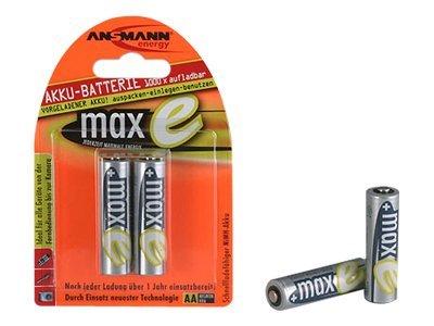 ANSMANN maxE - Batterie 2 x AA-Typ - NiMH - (wiederaufladbar) - 2100 mAh