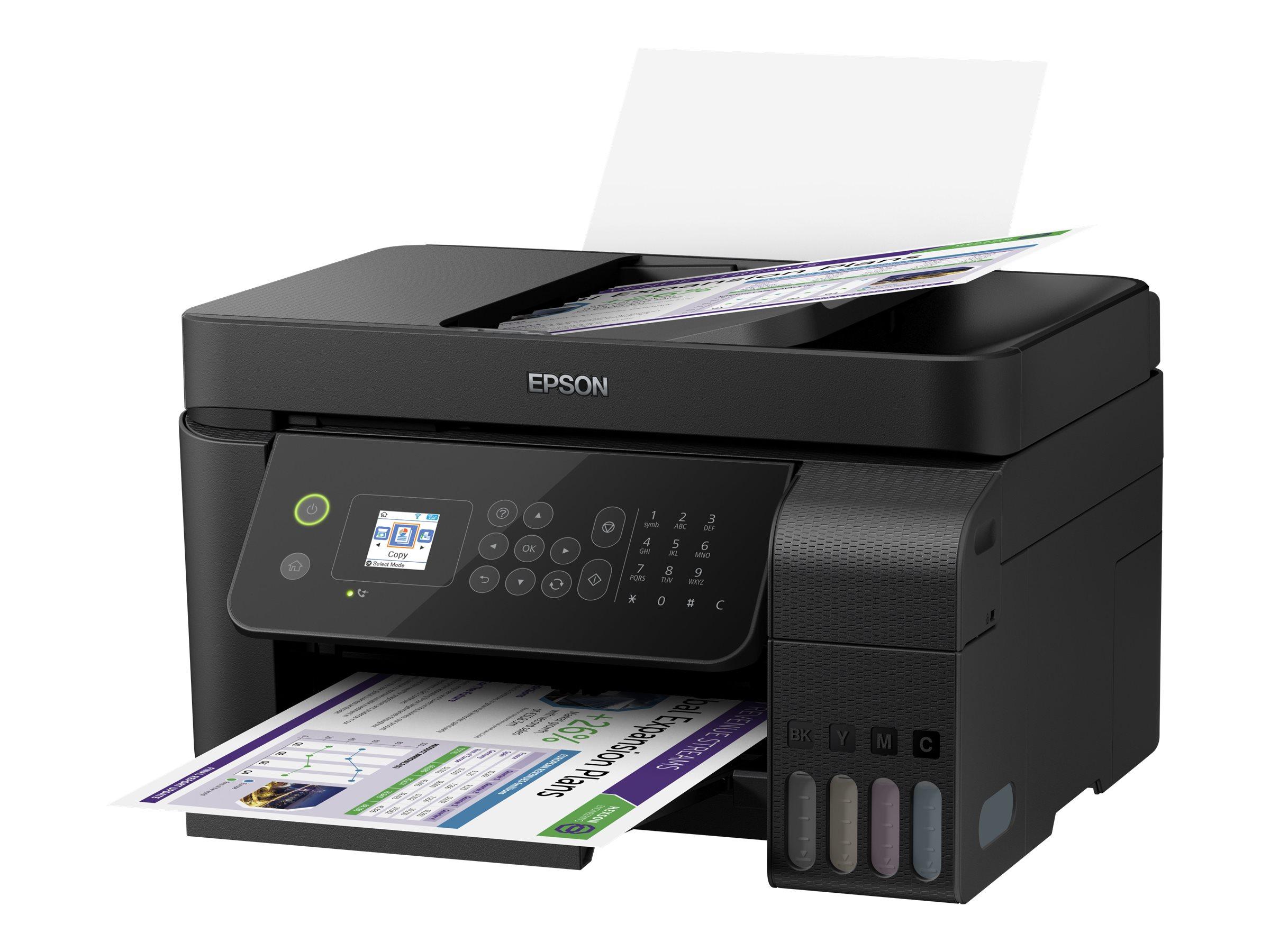Epson EcoTank ET-4700 - Multifunktionsdrucker - Farbe - Tintenstrahl - A4/Legal (Medien) - bis zu 10 Seiten/Min. (Drucken)