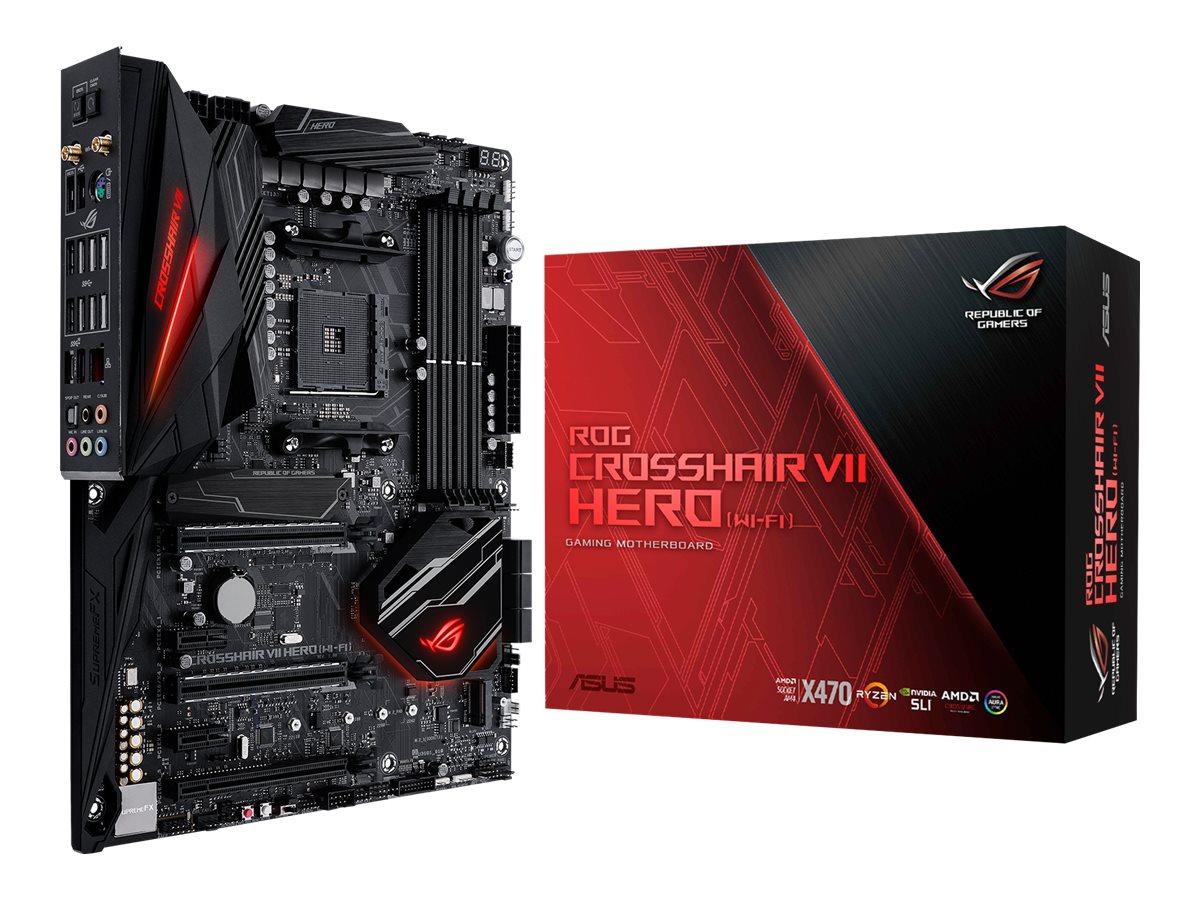 ASUS ROG CROSSHAIR VII HERO (WI-FI) - Motherboard - ATX - Socket AM4 - AMD X470 - USB 3.1 Gen 1, USB-C Gen2, USB 3.1 Gen 2